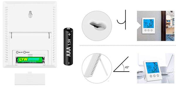 Termómetro e higrómetro digital Newdora barato