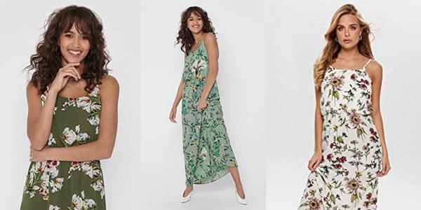 Vestido maxilargo Only Onlwinner SLcon tirantes para mujer barato en Amazon
