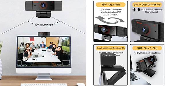 Webcam Karinear 1440p con micro en Amazon