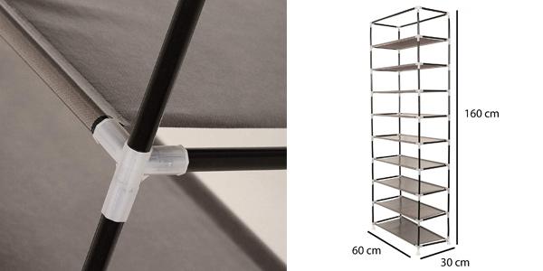Zapatero vertical con cubierta de tela T-LoVendo TLV-FS-58160 oferta en Amazon