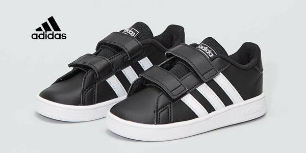 Zapatillas con velcro Adidas Grand Court I para bebé baratas en Amazon
