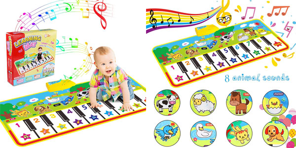 Alfombra piano infantil con sonidos de animales barata