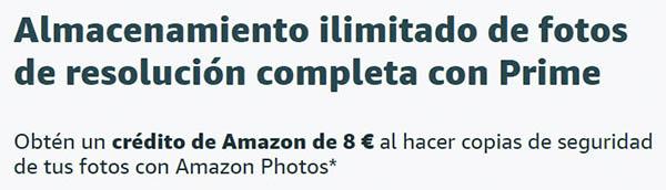 Amazon Photos almacenamiento cupón descuento