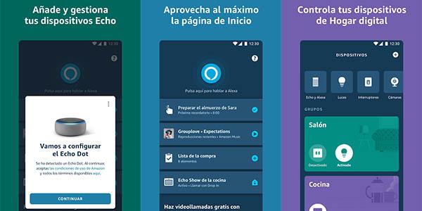 Aplicación Alexa para iOS y Android