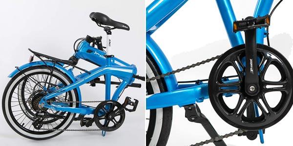 "Bicicleta eléctrica plegable Aurotek Sintra de 20"" chollo en Amazon"