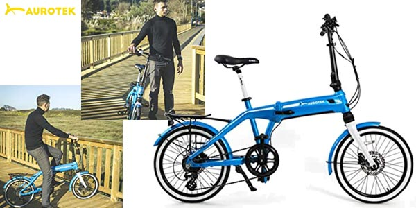"Bicicleta eléctrica plegable Aurotek Sintra de 20"" barata en Amazon"