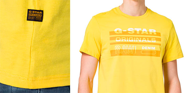 Camiseta G-Star Raw Originals Stripe Logo para hombre barata