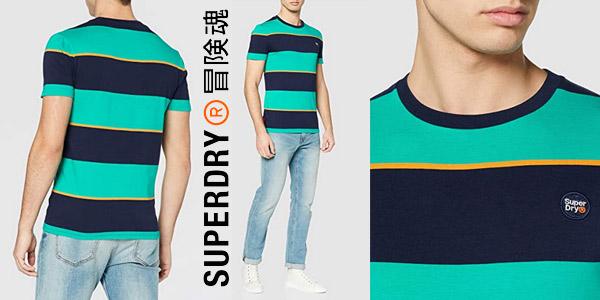 Camiseta manga corta Superdry Collective Stripe para hombre barata en Amazon