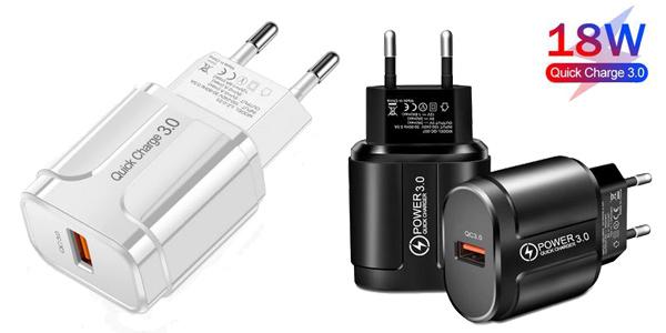 Cargador USB Quick Charge 3.0 barato en AliExpress
