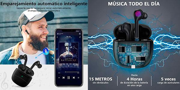 Chollo Auriculares inalámbricos Aoslen Tws J3 con Bluetooth 5.0