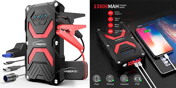 Chollo Arrancador de baterías Yaber CEP014-02 de 1.000 A y 13.800 mAh