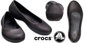 Chollo Bailarinas Crocs At Work Flat para mujer