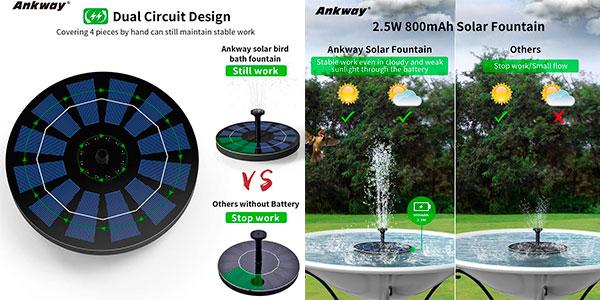Chollo Bomba de fuente Ankway de energía solar