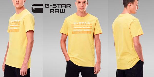 Chollo Camiseta G-Star Raw Originals Stripe Logo para hombre
