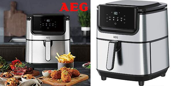 Chollo Freidora de aire sin aceite AEG AF6-1-6ST de 5,4 litros