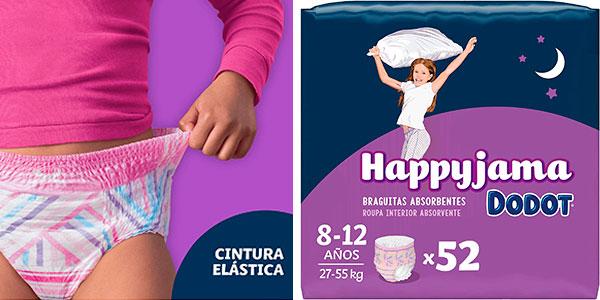 Chollo Pack de 52 pañales Dodot HappyJama antifugas para niñas