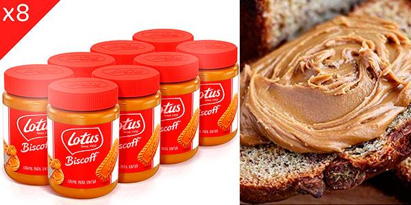 Chollo Pack de 8 botes de crema de galleta para untar Lotus Biscoff de 400 gr