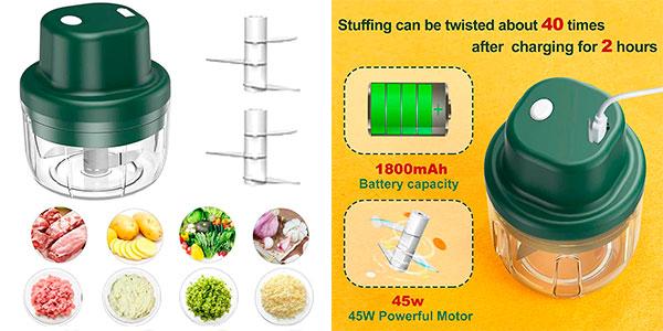 Chollo Picadora eléctrica Mlflower USB de 350 ml y 45 W
