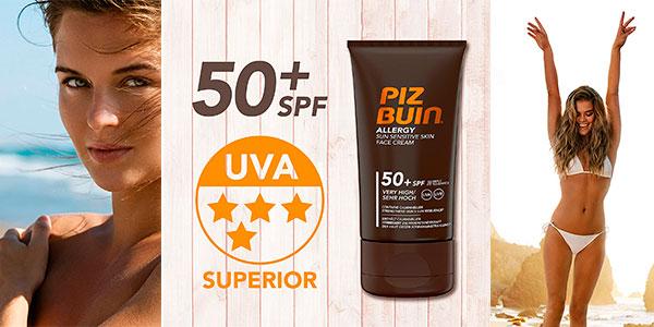 Chollo Protector solar facial Piz Buin Allergy SPF 50+ de 50 ml