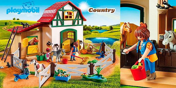 Chollo Set Granja de ponis de Playmobil con 6 figuras