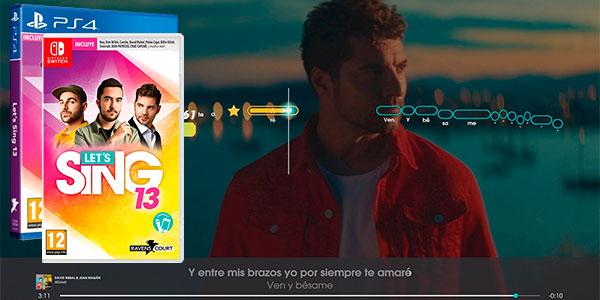 Chollo Let's Sing 13 para Switch y PS4 al mejor precio