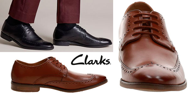 Chollo Zapatos Clarks Stanford Limit de tipo Derby para hombre