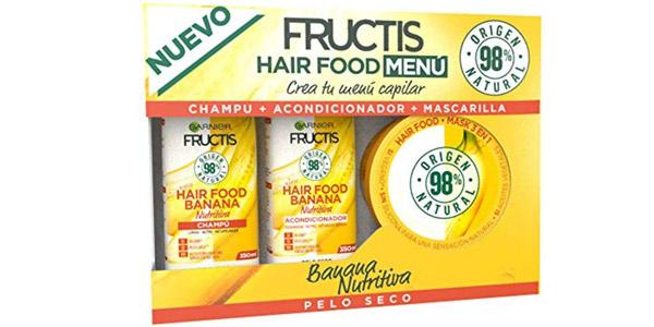 Cofre Garnier Fructis Hair Food Banana Nutritiva para pelo seco barato en Amazon