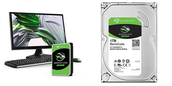 """Disco duro Seagate BarraCuda 3,5"""" de 1 TB barato"""