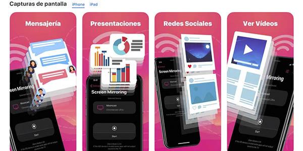 Duplica Pantalla Cast Smart Tv app gratis dispositivos iOs