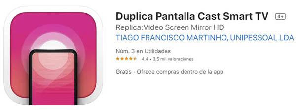Duplica Pantalla Cast Smart TV app gratis iOs