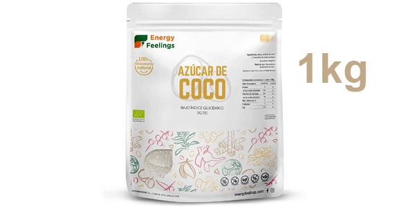 Azúcar de coco ecológico Energy Feelings de 1 kg barato en Amazon