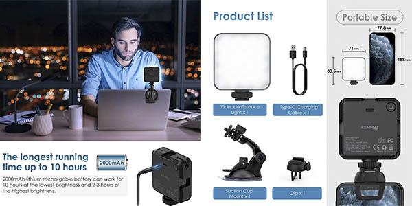 Esmart luz cámara ordenador barata