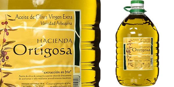 Garrafa de Aceite de oliva Virgen Extra Hacienda Ortigosa de 5L barata en Amazon