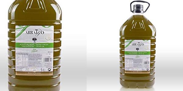 Aceite de oliva Virgen Extra Premium Arraigo sin filtrar de 5L barato en Amazon