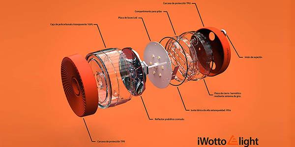 Luz LED emergencia iWotto E light V 16 homologada DGT barata