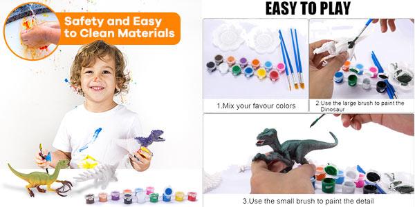 Kit de pintura para niños Magicfun con figuras de dinosaurios Magicfun oferta en Amazon