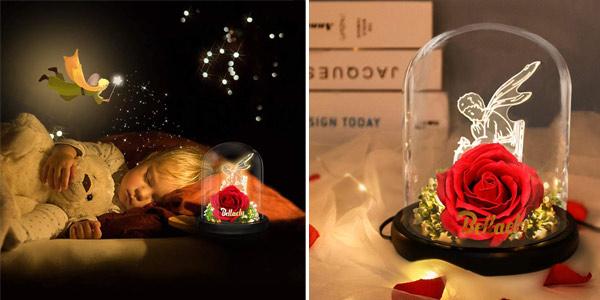 Kit de regalo Rosa de La Bella y la Bestia de Bellaely oferta en Amazon
