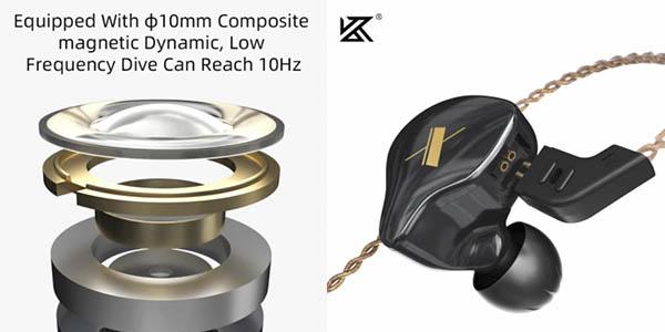 KZ EDX auriculares controladores 1DD chollo