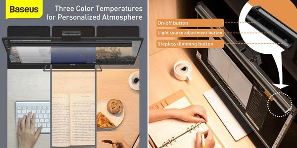 Lámpara LED Baseus de escritorio chollo en AliExpress