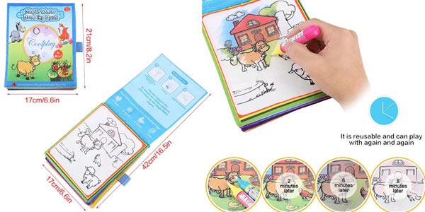 Libro mágico Hztyyier para pintar con agua chollo en Amazon