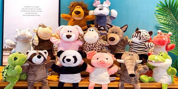 Marionetas de mano de animales baratas en Aliexpress