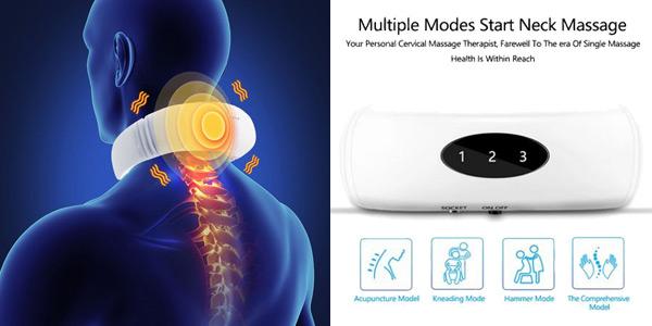 Masajeador eléctrico de cuello oferta en AliExpress