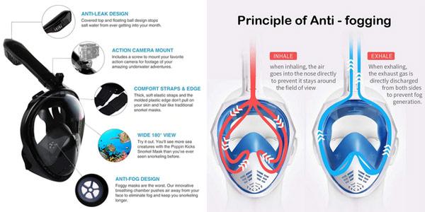 Máscara de buceo antiniebla Tringa para adultos y jóvenes oferta en AliExpress