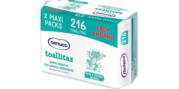 Megapack x216 Toallitas Nenuco Dermosenstive baratas en Amazon