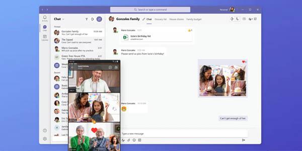 App de mensajería y reuniones Microsoft Teams