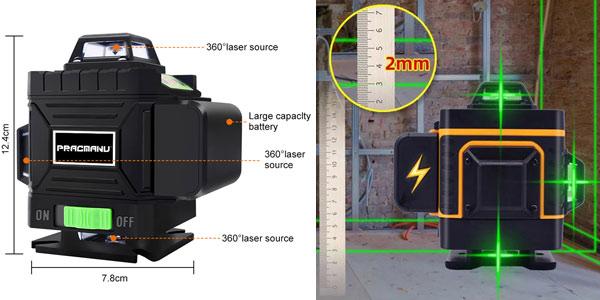 Nivel láser 4D Pracmanu con soporte oferta en aliExpress