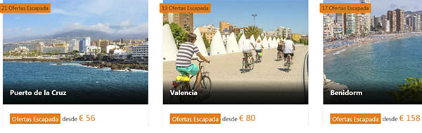 ofertas hoteles España escapadas 2021