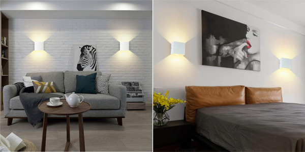 Pack x2 Apliques LED de pared Sobrovo chollo en Amazon