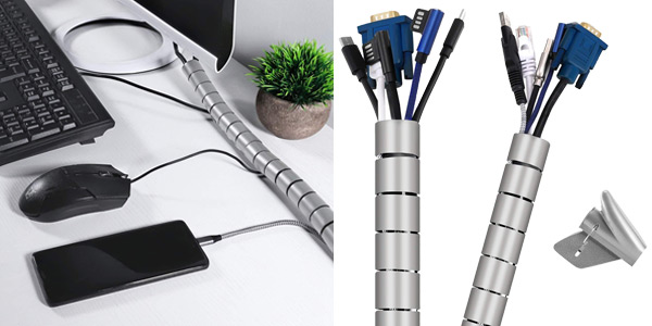 Pack x2 organizadores de cables VoJoPi baratos en Amazon