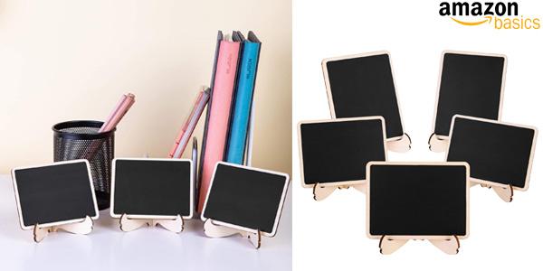 Pack x20 Minipizarras de madera Amazon Basics con caballete de apoyo chollo en Amazon